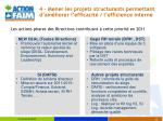 4 mener les projets structurants permettant d am liorer l efficacit l efficience interne