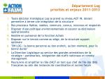 d partement log priorit s et enjeux 2011 2013