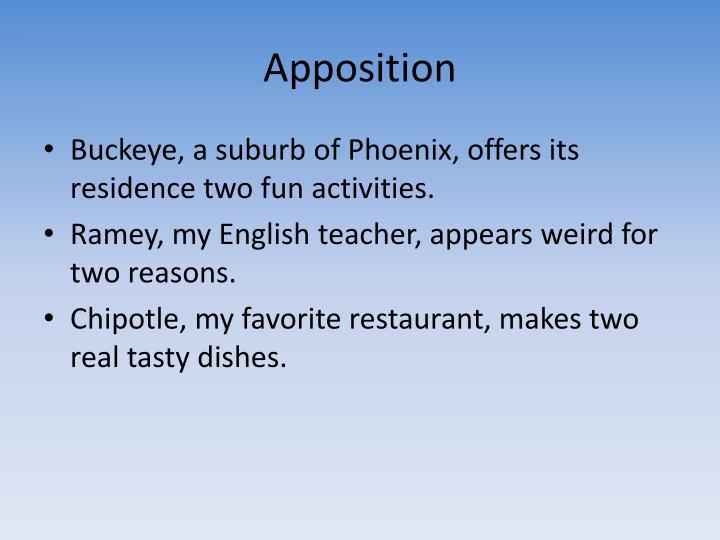Apposition