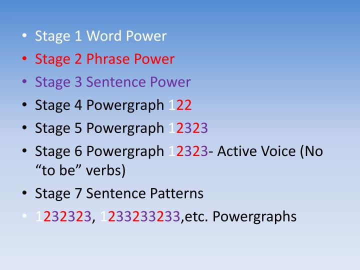 Stage 1 Word Power