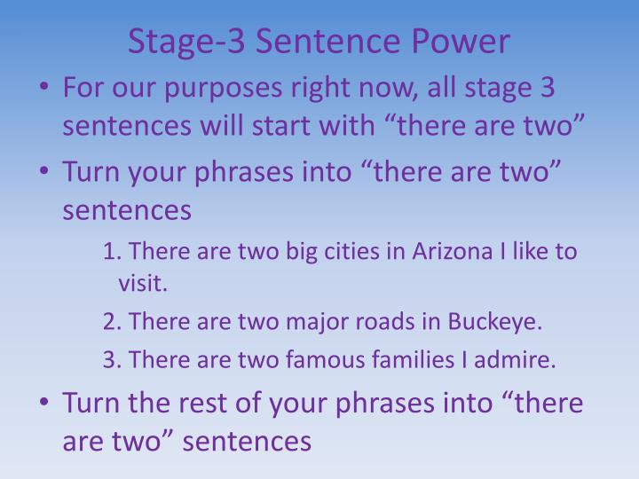 Stage-3 Sentence Power