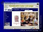 screen shot buhs web page