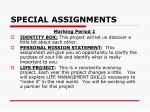 special assignments1