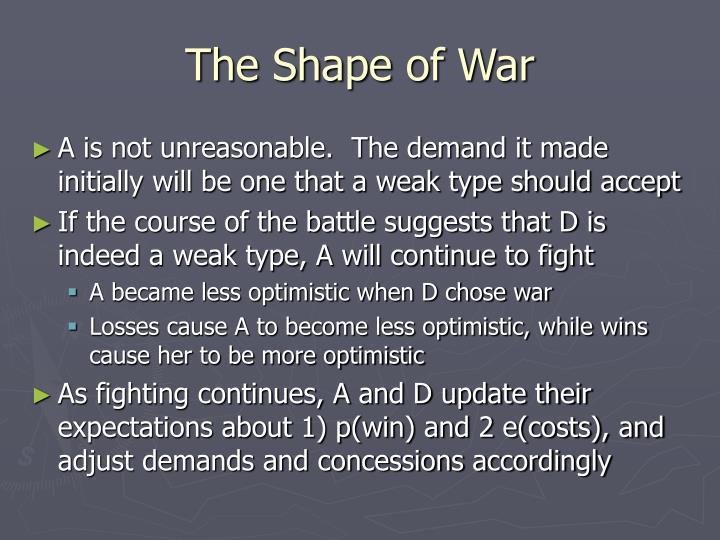 The Shape of War