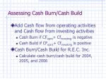 assessing cash burn cash build