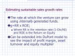 estimating sustainable sales growth rates