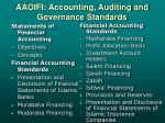 aaoifi accounting auditing and governance standards