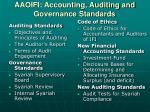aaoifi accounting auditing and governance standards1
