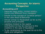 accounting concepts an islamic perspective