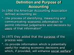 definition and purpose of accounting