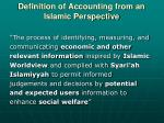 definition of accounting from an islamic perspective