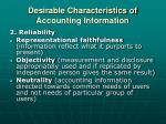 desirable characteristics of accounting information1