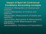 impact of syari ah contractual conditions accounting concepts