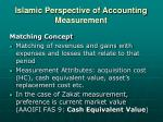 islamic perspective of accounting measurement