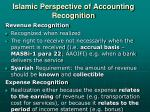 islamic perspective of accounting recognition