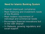 need for islamic banking system