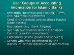 user groups of accounting information for islamic banks