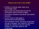 where is the cell in the ccdb