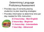 determining language proficiency assessment