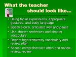 what the teacher should look like