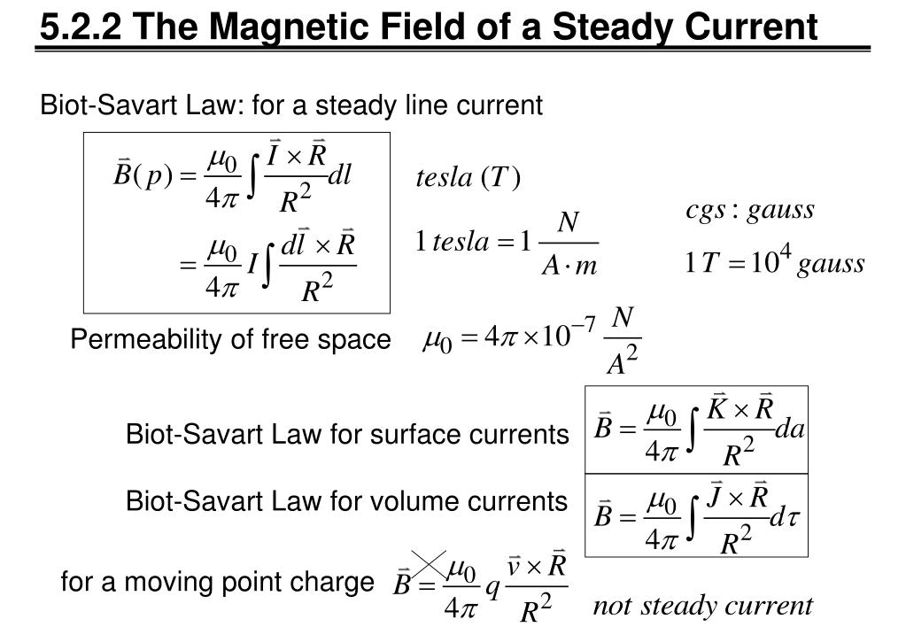 PPT - Chapter 5 Magnetostatics PowerPoint Presentation - ID
