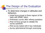 the design of the evaluation