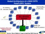 global architecture of a 2009 cots petaflops system