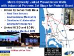 metro optically linked visualization walls with industrial partners set stage for federal grant