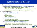 optiputer software research