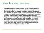 major learning objectives1