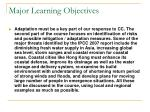 major learning objectives3