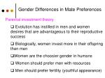 gender differences in mate preferences1