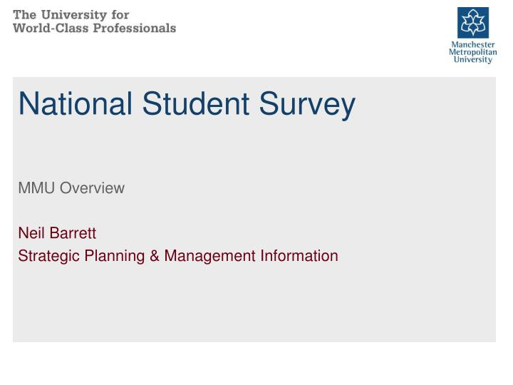 national student survey n.