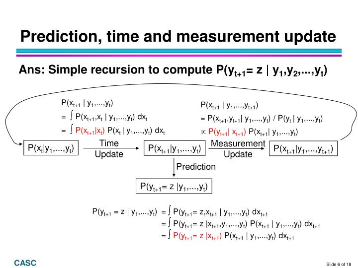 Prediction, time and measurement update