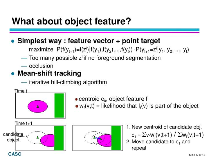 What about object feature?