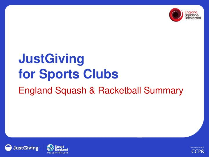 justgiving for sports clubs n.