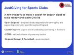 justgiving for sports clubs1