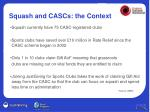 squash and cascs the context