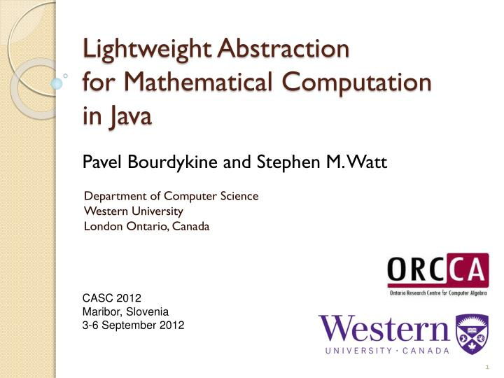 lightweight abstraction for mathematical computation in java n.