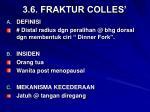 3 6 fraktur colles