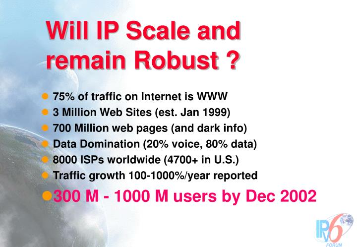 Will IP Scale and