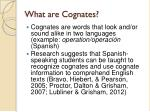 what are cognates