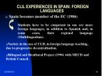 clil experiences in spain foreign languages