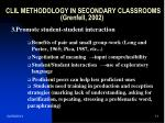 clil methodology in secondary classrooms grenfell 20021