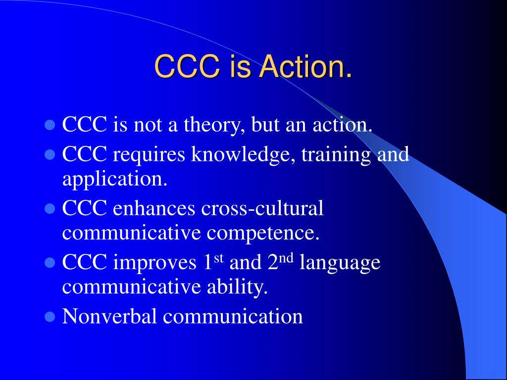 PPT - Cross-Cultural Communication [CCC] PowerPoint