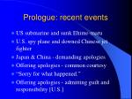 prologue recent events