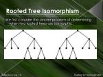 rooted tree isomorphism