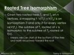 rooted tree isomorphism1