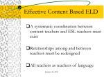 effective content based eld