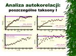 analiza autokorelacji poszczeg lne taksony i